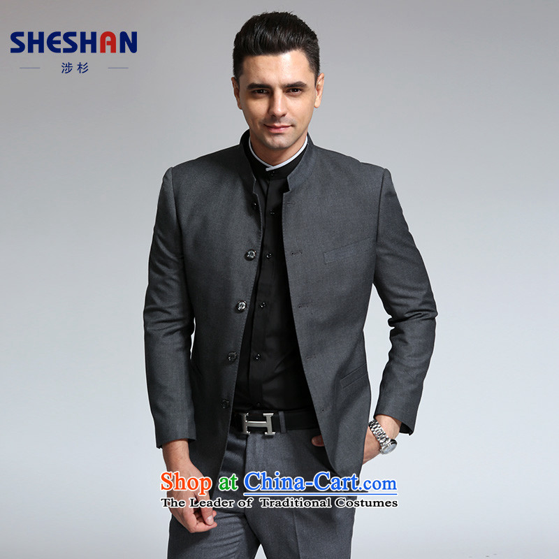 The Douglas fir SHESHAN_ Men's Chinese tunic commerce is casual Chinese collar suit male Korean Sau San suits gray牕 185A