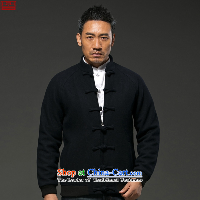 Renowned Chinese services gross male short of jacket? collar of autumn and winter coats gross China wind? The thick disk detained Tang dynasty improved black聽, L, renowned (chiyu) , , , shopping on the Internet