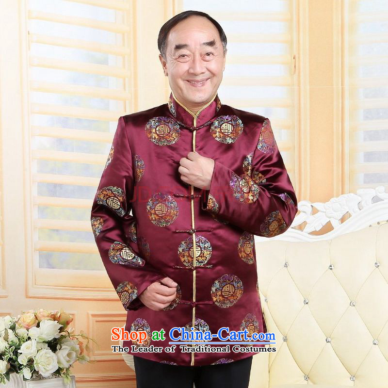 The elderly in the Arthur Min Tang dynasty China wind collar dress too Shou Yi wedding services will lower red?M