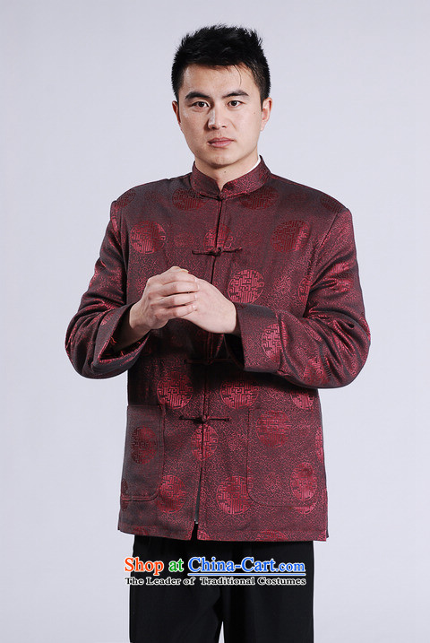 Min Joseph Men's Jackets thick cotton plus add-Tang Tang replacing men long-sleeved sweater Chinese Dragon Tang blouses wine red聽L picture, prices, brand platters! The elections are supplied in the national character of distribution, so action, buy now enjoy more preferential! As soon as possible.