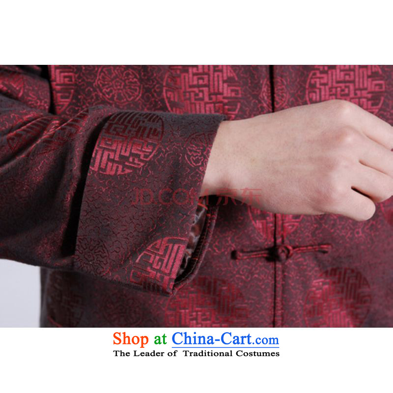 Min Joseph Men's Jackets thick cotton plus add-Tang Tang replacing men long-sleeved sweater Chinese Dragon Tang blouses wine red聽, L, Min Joseph shopping on the Internet has been pressed.