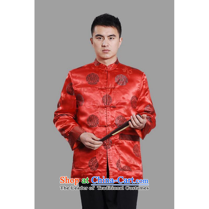Min Joseph Men's Jackets thick cotton plus add-Tang Tang replacing men long-sleeved sweater Chinese Dragon Tang blouses聽-C on cyan聽XXXL, Min Joseph shopping on the Internet has been pressed.