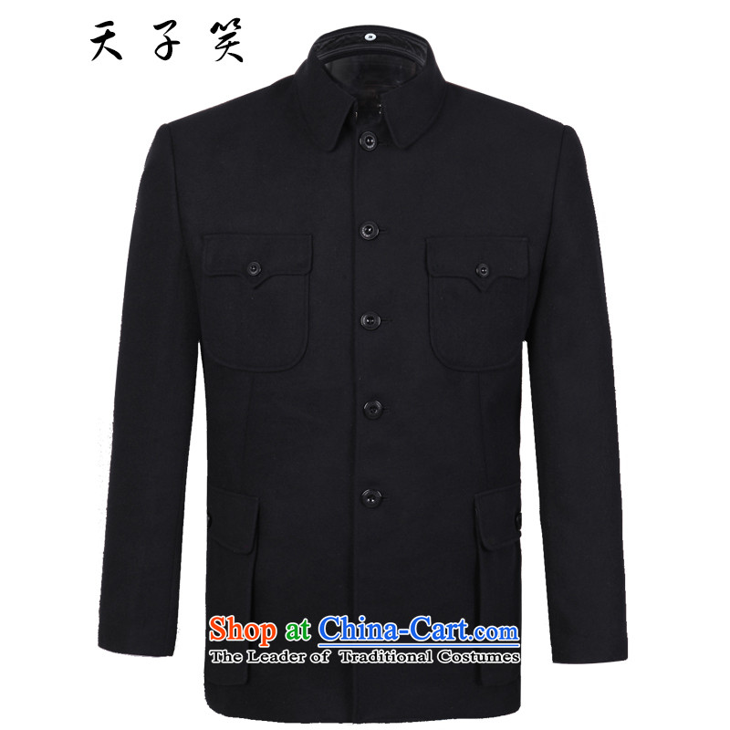The Emperor smiled Chinese tunic package for older men black inminbok _a coat of older persons on Chinese uniforms for what life jackets 2015 Autumn__聽72 Tsing