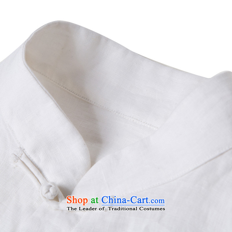 Renowned Chinese renowned service Tang dynasty China Wind, men fall linen men casual clothes for men national costumes of men's white windbreaker聽4XL, renowned (chiyu) , , , shopping on the Internet