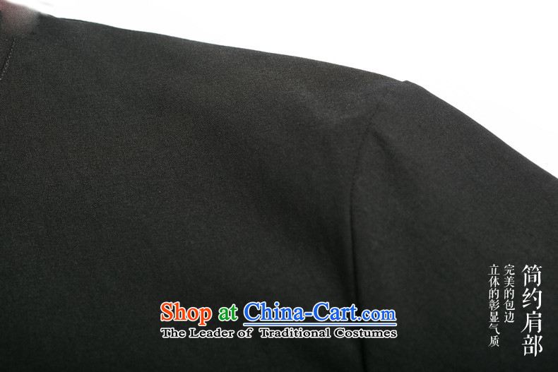 Name of HANNIZI China wind cotton linen collar disc detained men Tang Dynasty Chinese Sau San-long-sleeved shirt Black XL Photo national costume, prices, brand platters! The elections are supplied in the national character of distribution, so action, buy now enjoy more preferential! As soon as possible.