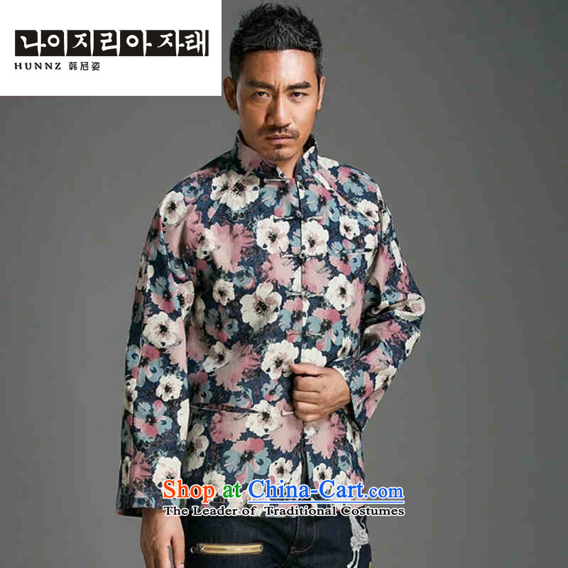 Name of the trendy Stamp   HANNIZI long-sleeved China wind collar disc detained Tang Dynasty Chinese men's jackets abounds improved?L