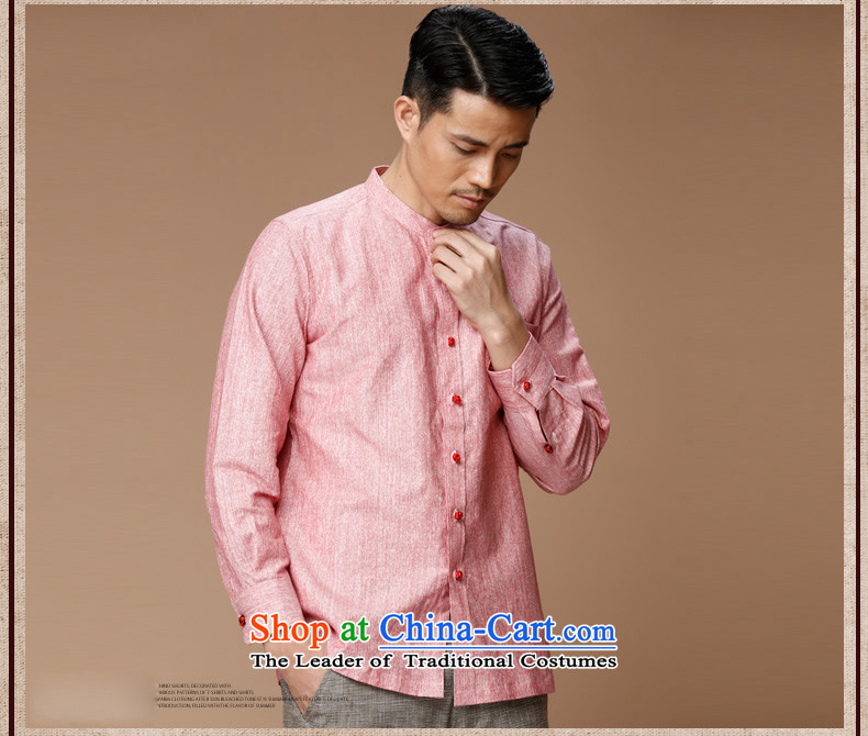 Name of the new Chinese Wind HANNIZI linen men Tang dynasty retro long-sleeved shirt collar men's jackets classic ball-services rose聽180 pictures, prices, brand platters! The elections are supplied in the national character of distribution, so action, buy now enjoy more preferential! As soon as possible.