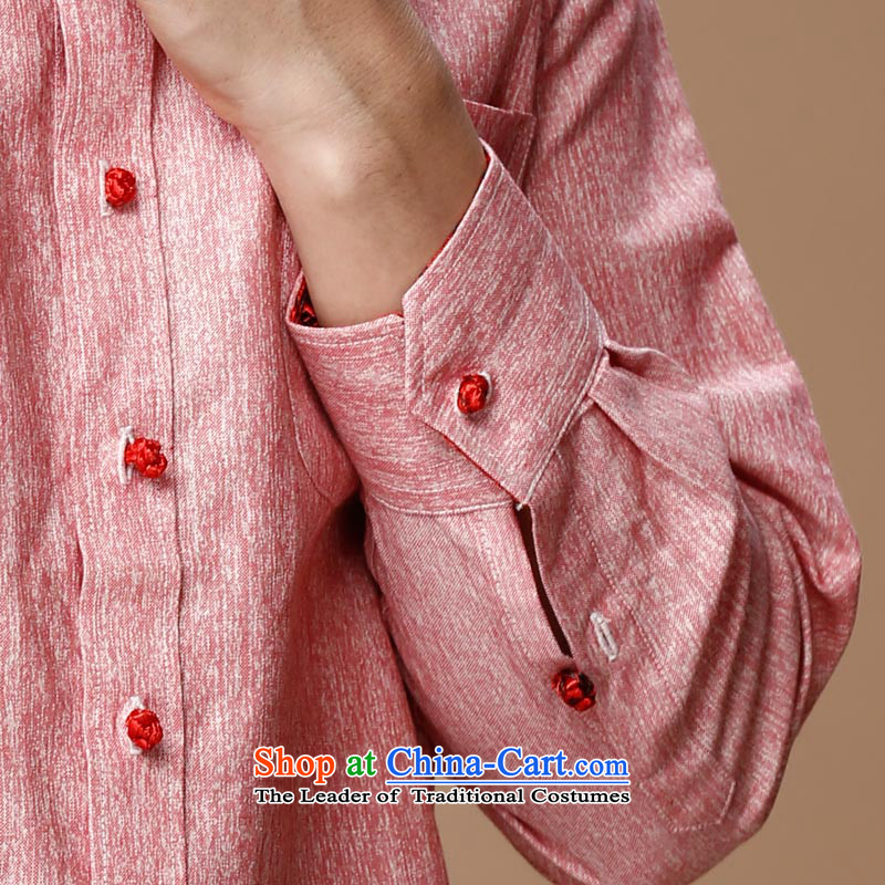 Name of the new Chinese Wind HANNIZI linen men Tang dynasty retro long-sleeved shirt collar men's jackets classic ball-services rose聽in Korea, Gigi Lai (hannizi) , , , shopping on the Internet