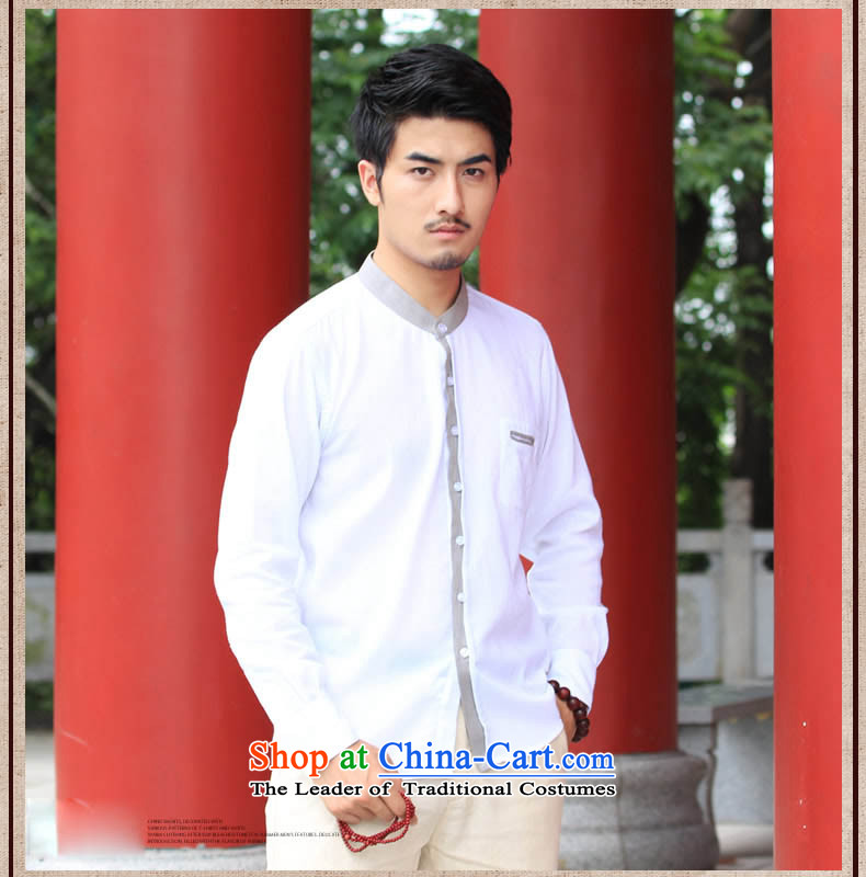 China wind HUNNZ Sau San Tong load minimalist men round-neck collar cotton linen long-sleeved shirt Chinese leisure shirt Chinese tunic male white聽185 pictures, prices, brand platters! The elections are supplied in the national character of distribution, so action, buy now enjoy more preferential! As soon as possible.