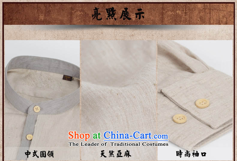 China wind Sau San Tong minimalist replacing men round-neck collar cotton linen long-sleeved shirt Chinese leisure shirt Chinese tunic and light grayPHOTO 165, prices, brand platters! The elections are supplied in the national character of distribution, so action, buy now enjoy more preferential! As soon as possible.