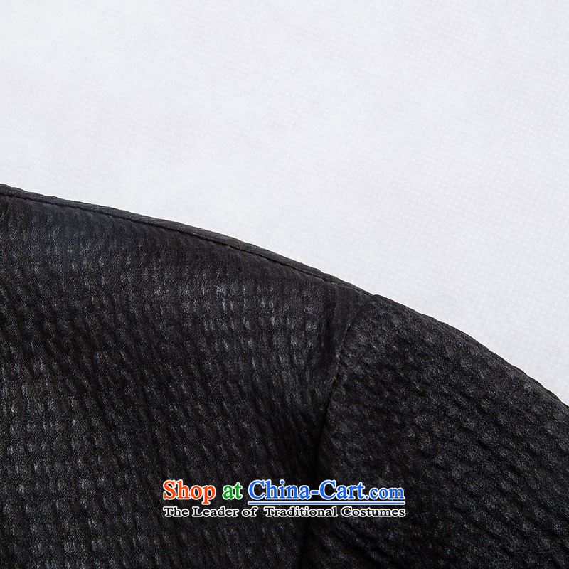 Renowned Chinese Tang dynasty service men Heung-cloud yarn silk short-sleeved China wind men Chinese shirt herbs extract Men's Shirt Black聽XL Photo, prices, brand platters! The elections are supplied in the national character of distribution, so action, buy now enjoy more preferential! As soon as possible.