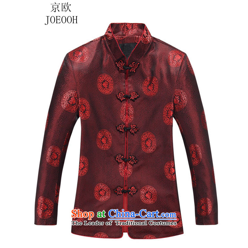 Beijing OSCE autumn and winter new Tang dynasty men's jackets female couple festive Tang dynasty women red T-shirt men 175