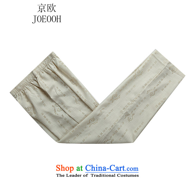 The elderly in the OSCE Kyung Tang Dynasty Package and the new long-sleeved China wind men beige pants S