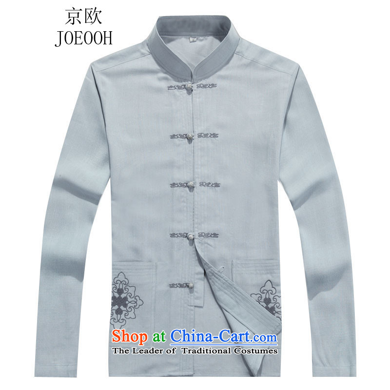 Beijing OSCE autumn and winter new Tang Dynasty Package long-sleeved Han-men in older load father gray suitM, Putin (JOE OOH) , , , shopping on the Internet