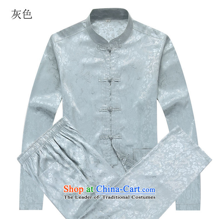 Beijing Europe of autumn and winter New Men Tang Dynasty Package Han-long-sleeved gray suit S picture, prices, brand platters! The elections are supplied in the national character of distribution, so action, buy now enjoy more preferential! As soon as possible.