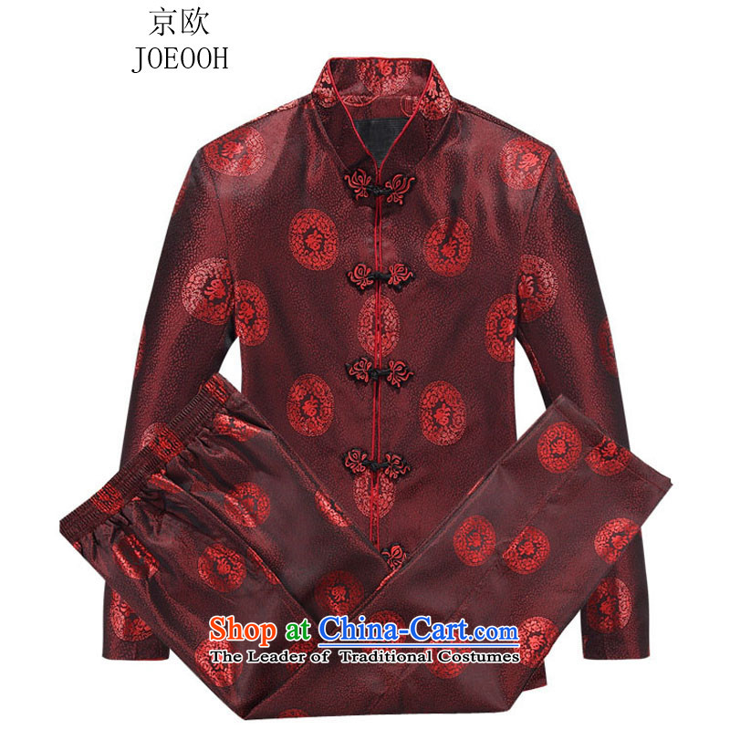 Beijing OSCE Tang Dynasty Package 2015 Autumn, China wind men long-sleeved kit for couples, Tang JACKET STYLE Tang Service Kit Red Women Men 190