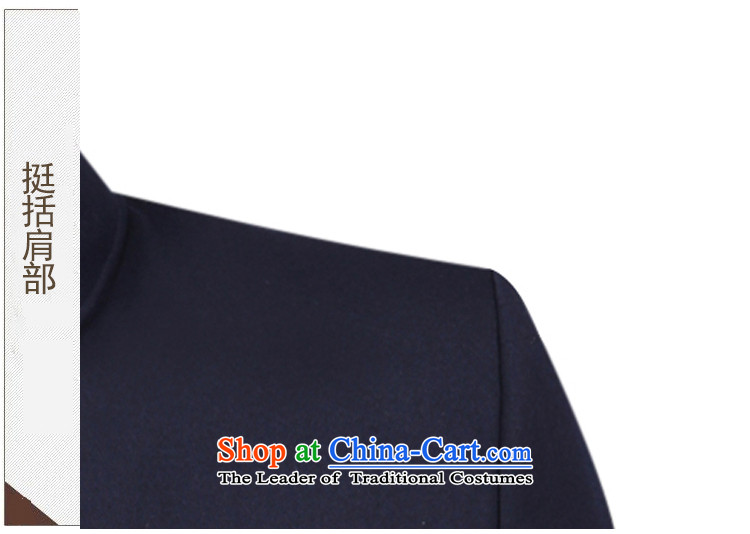 The Emperor smiled Chinese tunic Kit 2015 in autumn and winter older Chinese tunic Men's Mock-Neck gross jacket older people? Chinese uniforms dark blue聽74 pictures, prices, brand platters! The elections are supplied in the national character of distribution, so action, buy now enjoy more preferential! As soon as possible.
