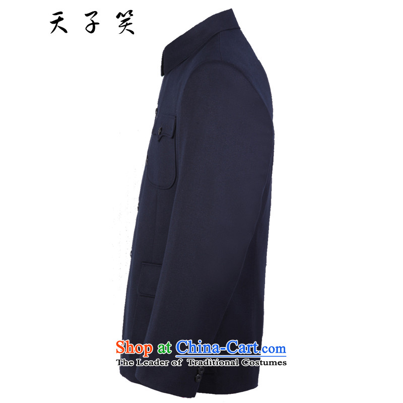 The Emperor smiled Chinese tunic Kit 2015 in autumn and winter older Chinese tunic Men's Mock-Neck gross jacket older people? Chinese uniforms dark blue聽74, Emperor smiled , , , shopping on the Internet