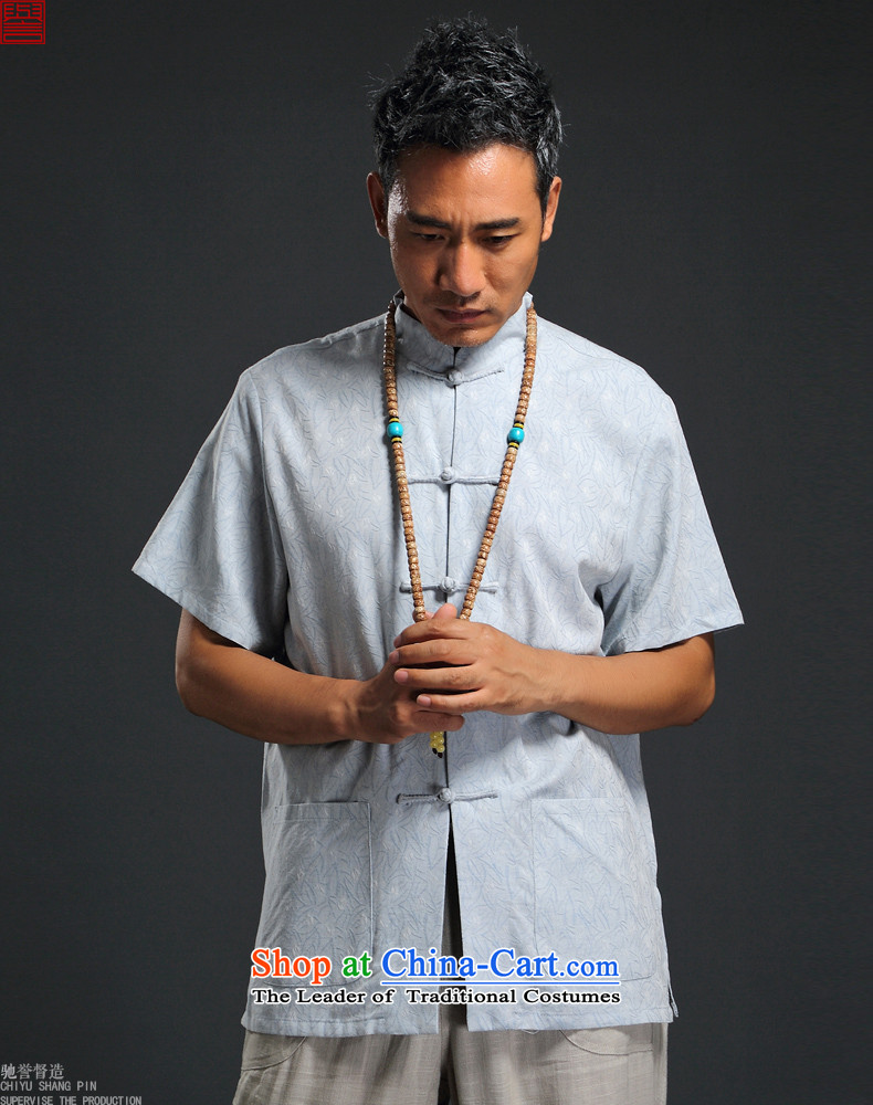 Renowned Chinese Services China wind 2015 Summer New Men linen in his shirt-sleeves retro men Tang dynasty cotton linen tunic of gray XL Photo Book, prices, brand platters! The elections are supplied in the national character of distribution, so action, buy now enjoy more preferential! As soon as possible.
