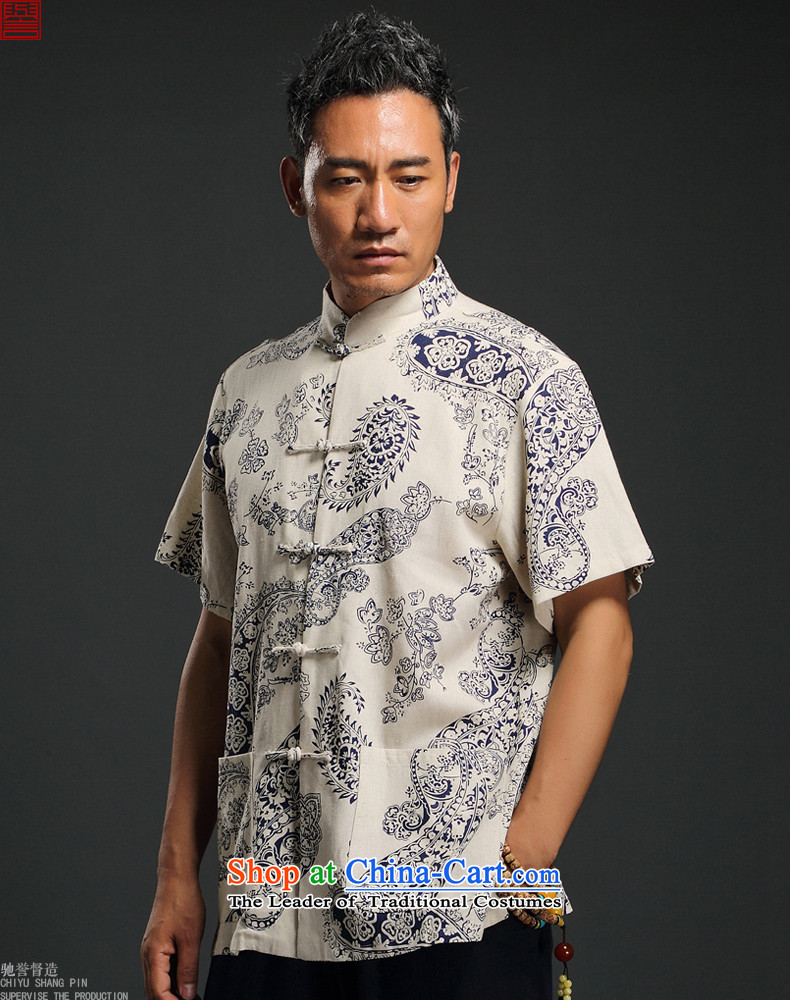 Renowned Chinese Services China wind linen men short-sleeved blouses and middle-aged Tang Chinese Disc detained shirt retro summer men m Yellow聽4XL Photo, prices, brand platters! The elections are supplied in the national character of distribution, so action, buy now enjoy more preferential! As soon as possible.