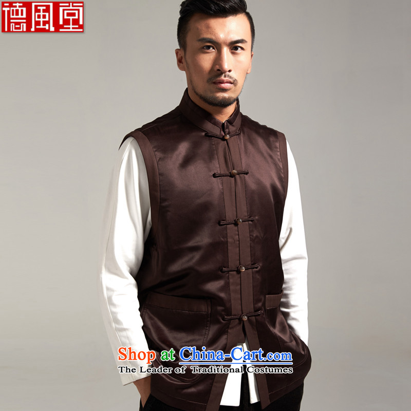 Fudo countries de upscale Heung-cloud yarn, a Tang Dynasty Chinese Kampala shoulder silk Ma Folder China wind men fall 2015 new products Chinese XL/48 Brown
