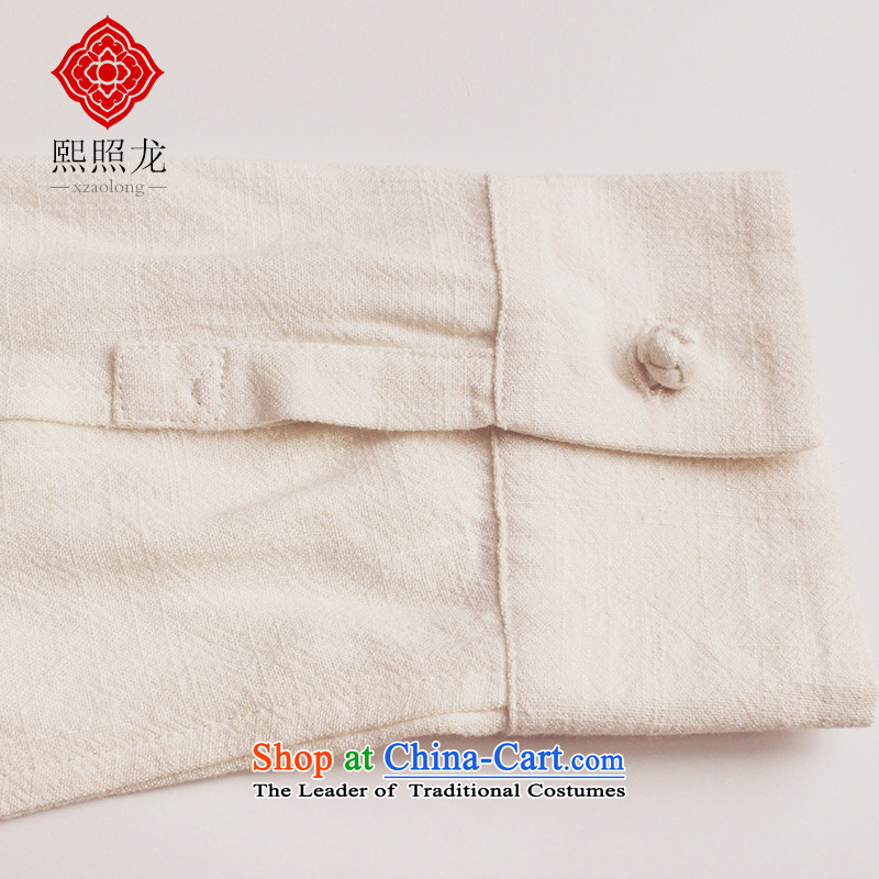 Hee-snapshot lung autumn and winter new Tang dynasty China wind shirt leisure Men's Mock-Neck Shirt, long-sleeved Tang Dynasty Han-White M-hee (XZAOLONG snapshot lung) , , , shopping on the Internet