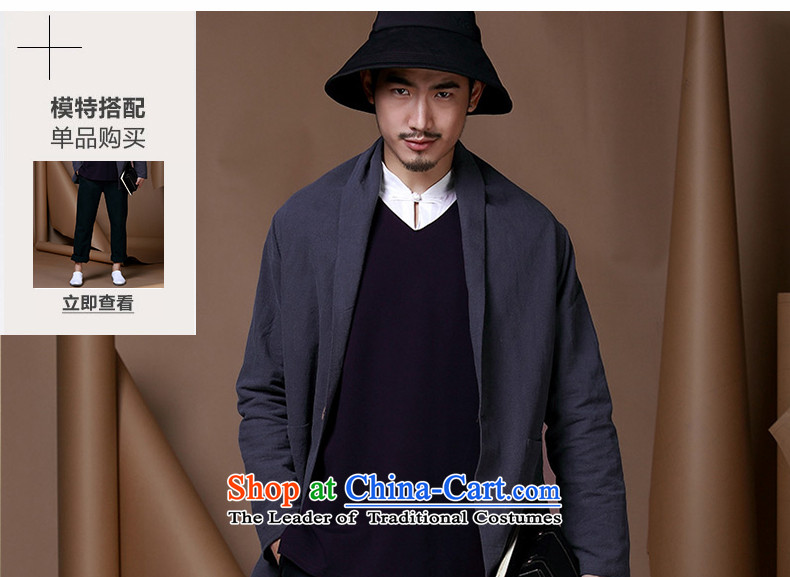 Name of China wind improved men Tang Dynasty Chinese cotton linen coat a typeface cloak casual clothing personality trend of men of the dark blue聽170 pictures, prices, brand platters! The elections are supplied in the national character of distribution, so action, buy now enjoy more preferential! As soon as possible.