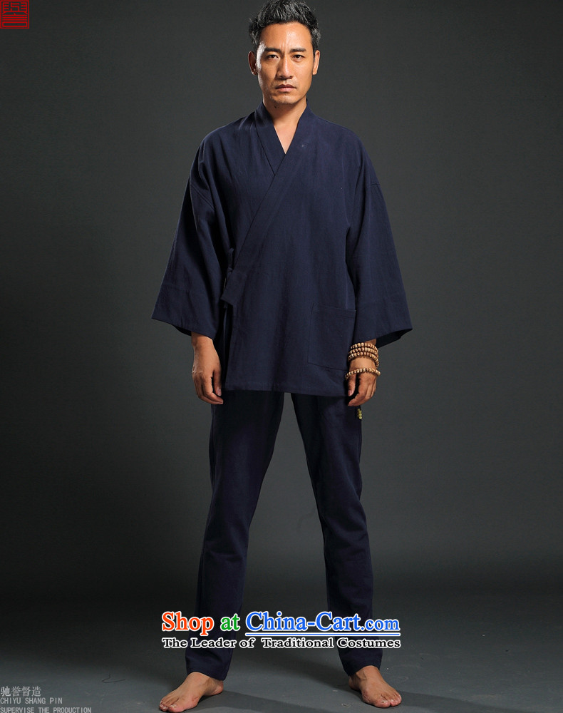 Renowned Chinese Wind linen men retro Han-to fulfill his breast cardigan leisure Tang dynasty men t-shirt tea service blue XL Photo, prices, brand platters! The elections are supplied in the national character of distribution, so action, buy now enjoy more preferential! As soon as possible.