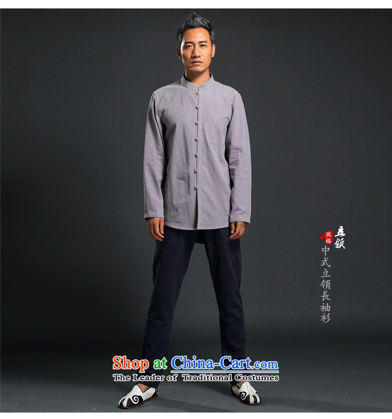 Renowned Tang dynasty male Han-linen shirt men Tang dynasty loose solid color shirt autumn China wind men linen long-sleeved shirt light gray聽XL Photo, prices, brand platters! The elections are supplied in the national character of distribution, so action, buy now enjoy more preferential! As soon as possible.