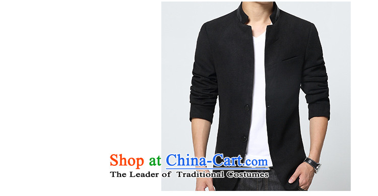 Dan JIE SHI JIE SHI (DAN) 2015 autumn and winter Chinese tunic suit the new Small Business suit male Sau San Korean male Chinese tunic jacket blue casual聽XXXL picture, prices, brand platters! The elections are supplied in the national character of distribution, so action, buy now enjoy more preferential! As soon as possible.