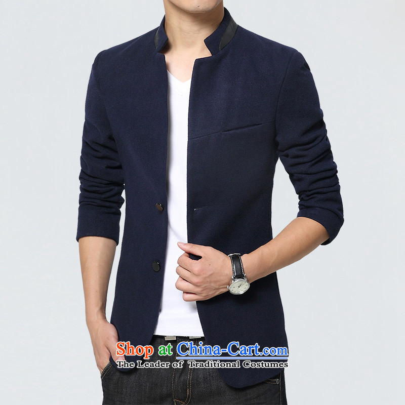 Dan JIE SHI JIE SHI (DAN) 2015 autumn and winter Chinese tunic suit the new Small Business suit male Sau San Korean male Chinese tunic jacket blue casual聽XXXL, Dan Jie Shi (DAN JIE SHI) , , , shopping on the Internet