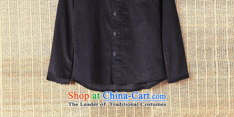 Dan Jie Shi聽2015 original art nouveau flowers snap up Chinese corduroy long-sleeved shirt cotton China wind men Brown聽M picture, prices, brand platters! The elections are supplied in the national character of distribution, so action, buy now enjoy more preferential! As soon as possible.