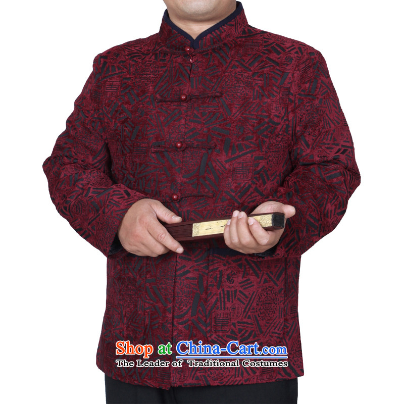 The Cave of the elderly 15 autumn and winter men Sau San Tong jackets hip trendy fashion middle-aged men's upscale Tang dynasty?Y770?aubergine?185 yards