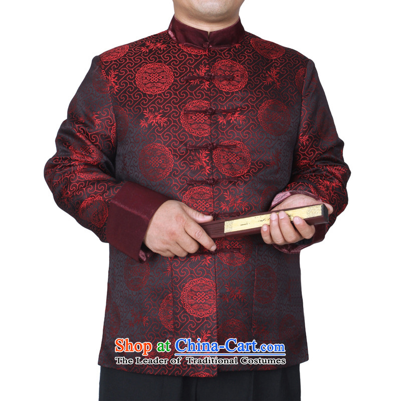 The Cave of the elderly during the spring and autumn the new trend of 15 Sau San Tong replacing men and auspicious Chinese macrame long-sleeved jacket and Y882 Red 175 yards