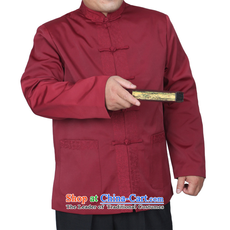 The Cave of the elderly 15 autumn and winter New Red Tang dynasty in embroidery older married upscale banqueting Tang jackets Y768 red聽190 yards, the ancestor of the elderly聽has been pressed shopping on the Internet