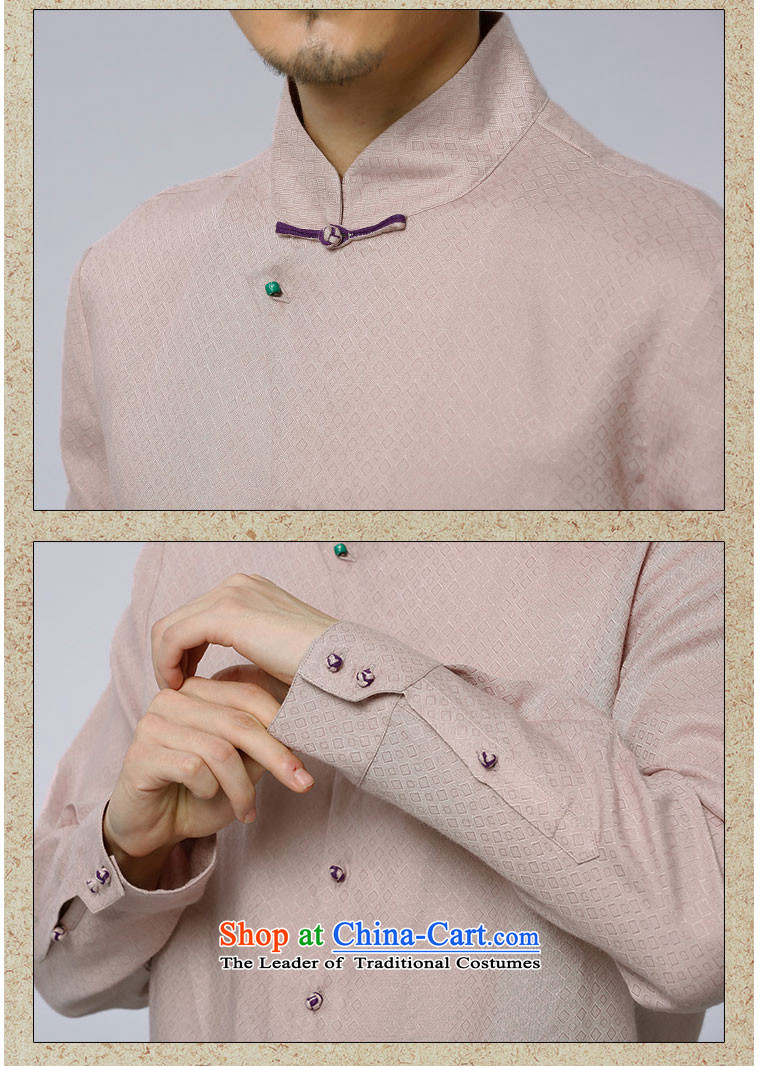 To Tang Dynasty Dragon聽2015 autumn and winter New China wind men of ramie jacquard leisure long-sleeved shirt聽15611-1聽light pink salmon pink聽50 pictures, prices, brand platters! The elections are supplied in the national character of distribution, so action, buy now enjoy more preferential! As soon as possible.