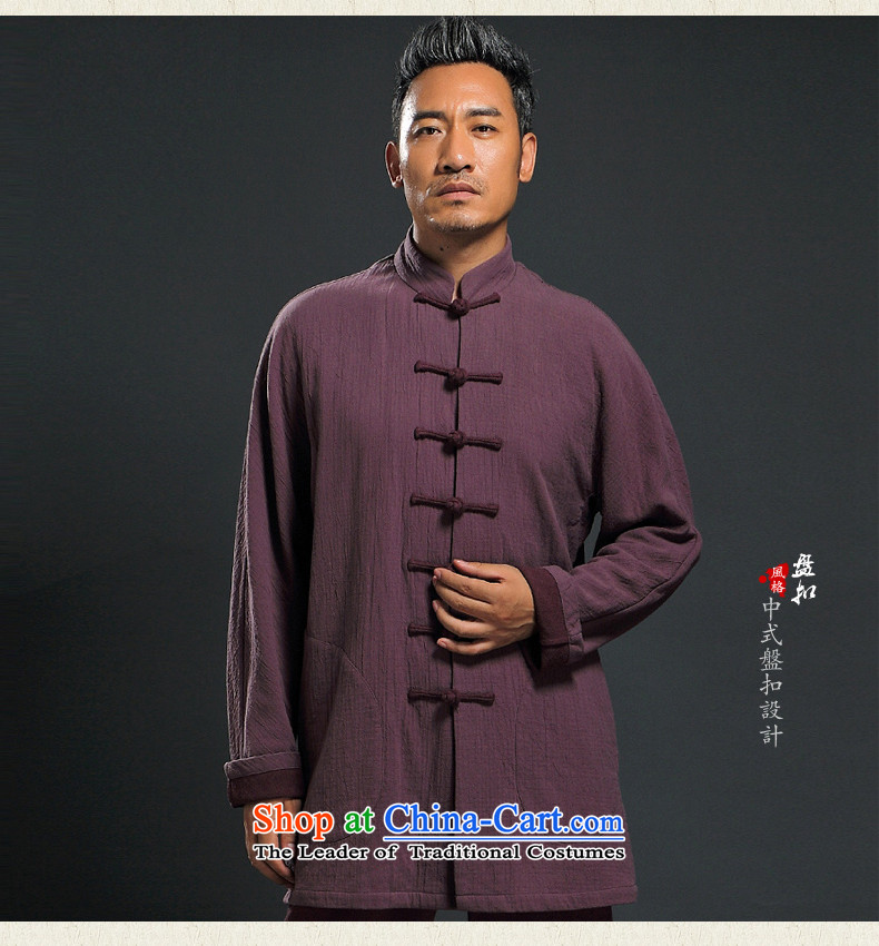 Renowned Tang dynasty men fall 2015 new ethnic Han-men Chinese long-sleeved improved China wind ball services XL pictures, price dark blue, brand platters! The elections are supplied in the national character of distribution, so action, buy now enjoy more preferential! As soon as possible.