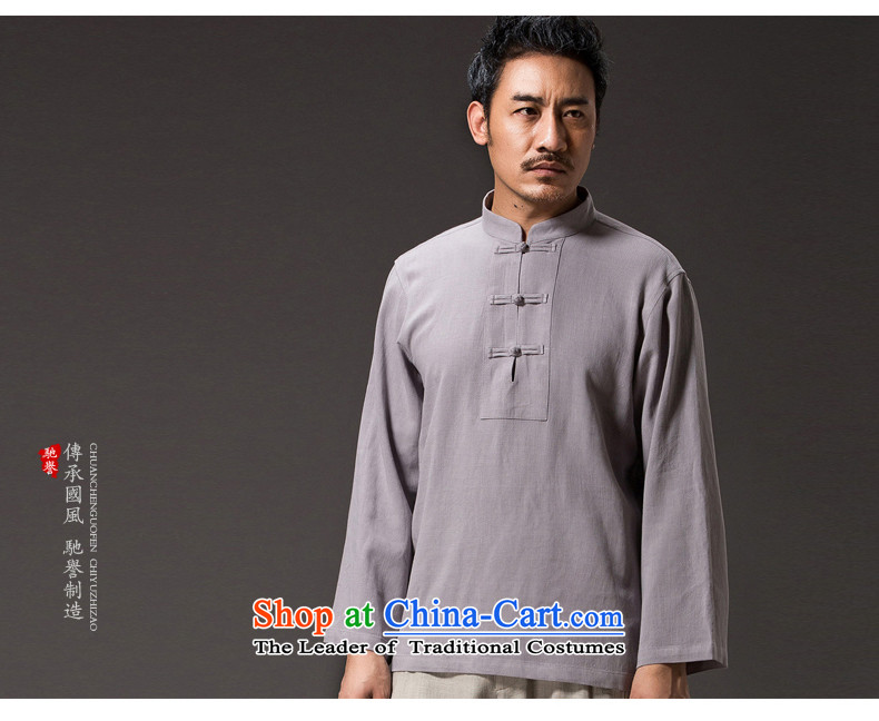 Renowned China wind shirt men Tang Gown of pure colors and men fall cotton linen clothes men T-shirt Han-long-sleeved shirt pants linen 2,005 XL Photo, prices, brand platters! The elections are supplied in the national character of distribution, so action, buy now enjoy more preferential! As soon as possible.