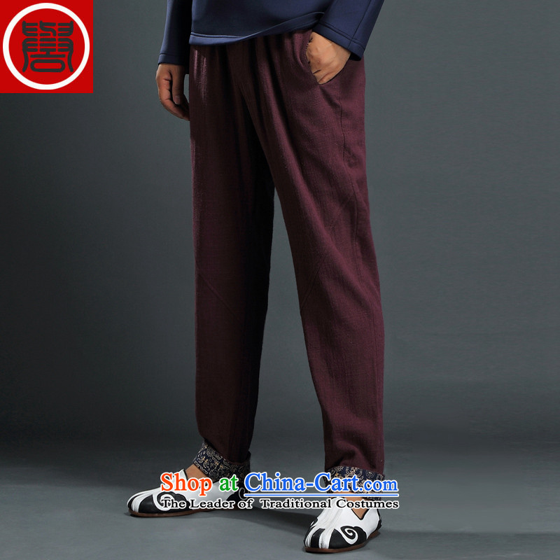 Renowned China wind shirt men Tang Gown of pure colors and men fall cotton linen clothes men T-shirt Han-long-sleeved shirt pants linen 2,005 XL, renowned (CHIYU) , , , shopping on the Internet