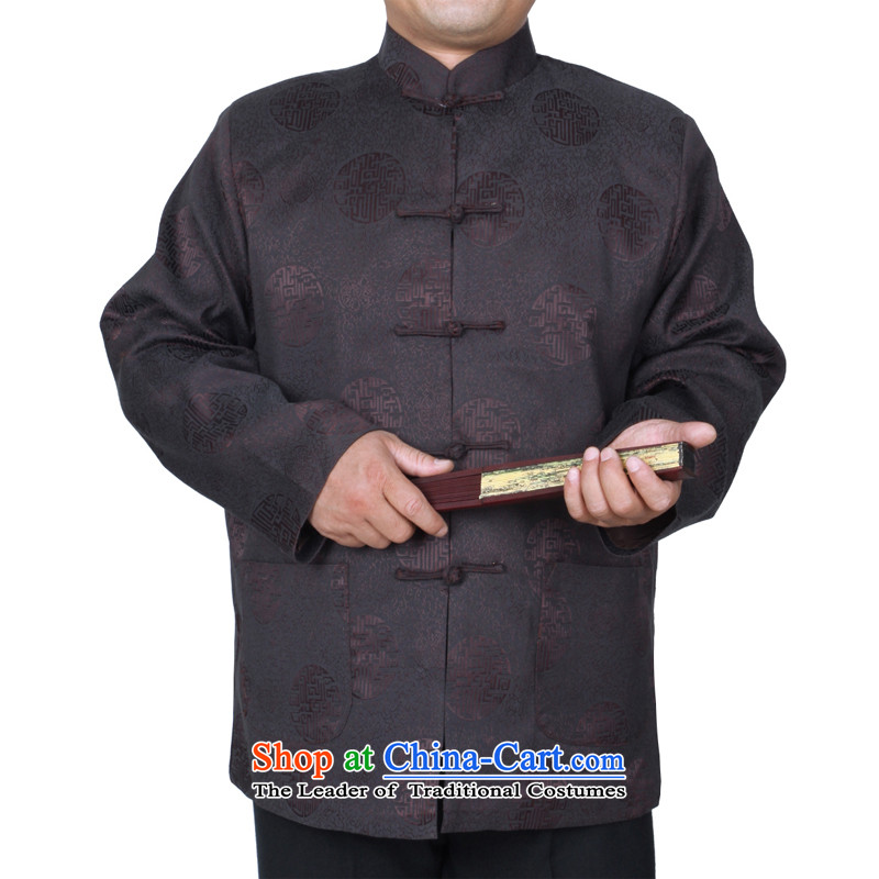 The Cave of the elderly new explosions in the autumn and winter 15 urges older men Tang dynasty jacket fall inside the national costumes W58 father folder/cotton wine red聽175 yards, the ancestor of the elderly聽has been pressed shopping on the Internet