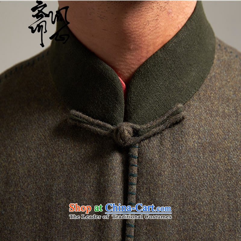 Q Shinsaibashi represented a health (men of autumn and winter new Chinese collar tang with rotator cuff jacket coat 2629 Grass green , L, and with Ramadan , , , shopping on the Internet