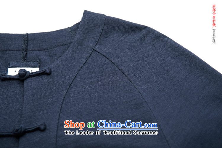 Seventy-tang China wind men 7 Cuff Tang blouses T-shirts retro Chinese Disc Knitted Shirt clip fall shirt original improved national costumes White聽XL Photo, prices, brand platters! The elections are supplied in the national character of distribution, so action, buy now enjoy more preferential! As soon as possible.