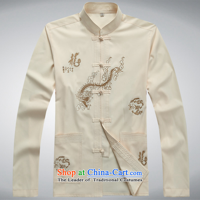 The European Health, 2015 new spring and fall in the number of older red T-shirt festive Chinese long-sleeved Tang dynasty male summer leisure grandpa load elderly jacket China wind Han-black190/XXXL, Europe Health (OULANGGE) , , , shopping on the Intern