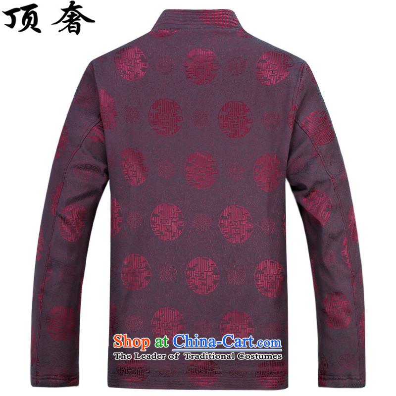 Top Luxury 2015 autumn and winter, older men Tang blouses and lint-free thick loose fit Older long-sleeved jacket over shou version relaxd dress blue Millennium) Red Kit L/175, top luxury shopping on the Internet has been pressed.