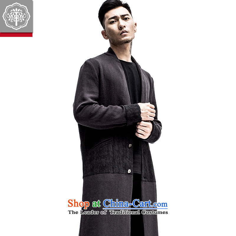 2015 Autumn tree to the new improved Tang dynasty men linen china wind shirt collar Chinese Tang Jacket Color聽175/L, Hyun EYENSREE Tree (Context) , , , shopping on the Internet