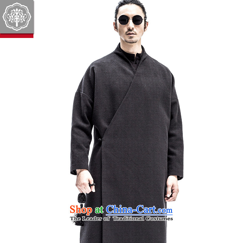 2015 Autumn tree to new long coats jacket men national wind jacket retro ramp flap Han-hyun聽185_XXL color