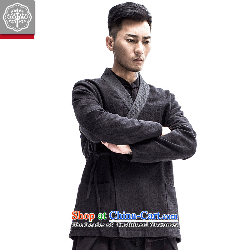 To fall new nation tree-han-men and long-sleeved improved Chinese men need flap tether Han-hyun�5_L color