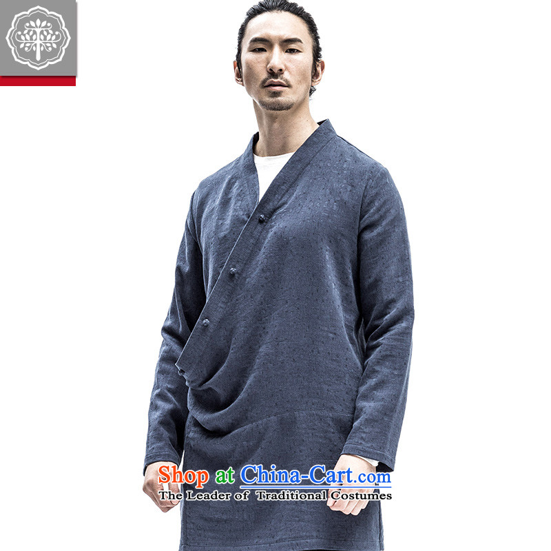 2015 Autumn tree to the new China wind improved Han-original antique men need Flap Discs catch Blue聽185_XXL Jacket