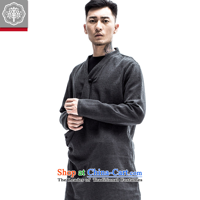 2015 Autumn tree to the new China wind improved Han-original antique men need Flap Discs catch Blue jacket聽to tree (EYENSREE 185/XXL,) , , , shopping on the Internet