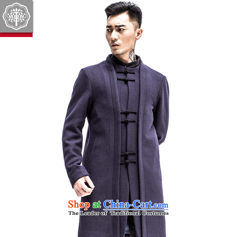 Intended for autumn and winter 2015 tree new Tang Dynasty Chinese Wind Jacket men in long Leisure Tang blue jacket?175/L